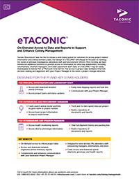 eTACONIC® Customer Portal