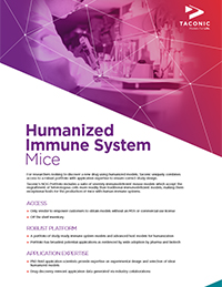Humanized Immune System Mice