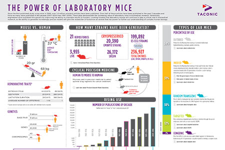 The Power of Laboratory Mice Infographic